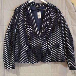 Polka dot dress blazer